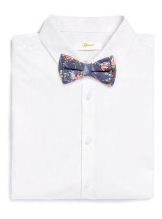 Denim Floral Bow Tie, TopMan