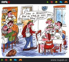 Kreslené vtipy | Loupak.cz Humor, Urban, Comics, Art, Art Background, Humour, Kunst, Moon Moon, Comic Book