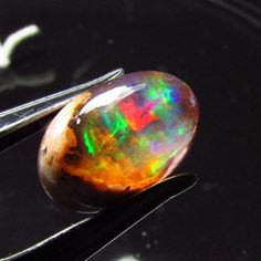 Opal 6.11ct Red Green BLUE Color Play FIRE AAA Gem Cab Solid Natural Mexican Gem #JewelsRoughGems