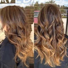 Caramel ombré with balayage on brunette hair - Next hair color! Balayage Caramel, Caramel Ombre, Caramel Highlights, Balayage Highlights, Balayage Color, Ombre Color, Balayage Hair, Ombre Hair, Hair Day