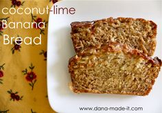 Coconut Lime Banana Bread...for those leftover bananas that want to do something different from the usual banana nut muffins...