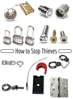 How to Stop Thieves: Thieves look for easy pickings; these tips will show you how to stop thieves from stealing trailers, motorcycles, ladders and equipment from your yard. Don't be a victim. Stop thieves with these simple how to tips. http://www.familyhandyman.com/home-security/how-to-stop-thieves