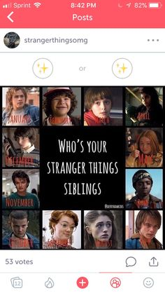 My stranger things sibling is Eleven Watch Stranger Things, Stranger Things Netflix, Saints Memes, Instagram Accounts To Follow, Funny Quotes, Funny Memes, Disney Jokes, Funny Posts, Tv Shows