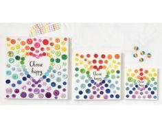 Choose Happy Rainbow Heart Burst. Rainbow Button Heart. Positive Art. Inspiration Quote Art. Nursery Decor. Rainbow Baby Nursery.