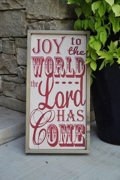 Christmas Sign the lord, christmas gift ideas, subway signs, christmas signs, wood signs, christmas decorations, front doors, outdoor christmas, christmas gifts