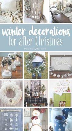 DIY Projects - Craft Ideas - Winter Home Decor - Winter Decorations for After Christmas diy doityourself crafter diyideas craft crafting wallart art artsy homedecor homedecorideas 360076932707331848