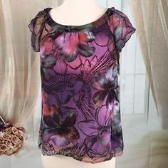 NY Collection Floral Print Blouse Lovely floral print blouse.  Lined.  Great condition.  Size PS. NY Collection Tops Blouses
