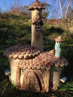 Große Märchen-Haus mit Turet Oneoff handgemacht von HereNorTherey