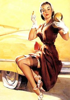 "Cheese cake pin up art by Gil Elvgren: ""Jill Needs Jack"""