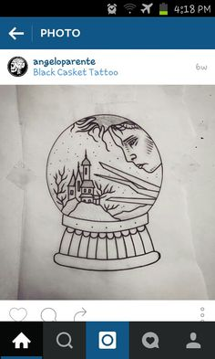Edward scissorhands by Angelo Parente - like the detail of the snowglobe