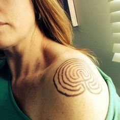 My labyrinth tattoo...I was just looking at some others...I like mine best!