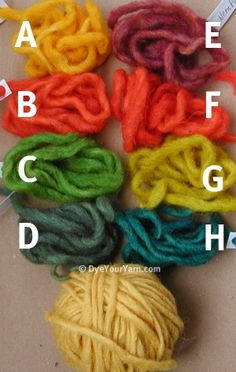 Tons of info on overdying yarn with Kool-Aid and food coloring! This is one of my knitter buddie's blogs.