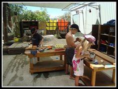 preschool woodworking/tinkering area