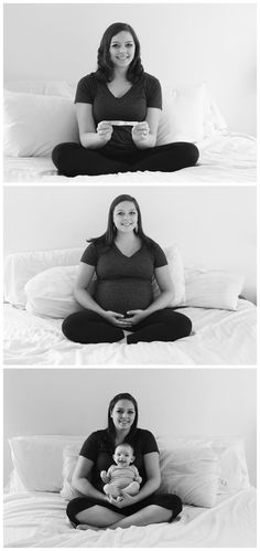 love this beginning, middle and end pregnancy photo idea