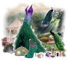 """Peacock Fantasy by Sheniq"" by sheniq on Polyvore"