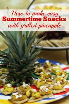They are coming. Those it's too dang hot to eat days of summer. You know the ones where the thought of turning on the oven or the hot stove makes you sweat even more. On those nights you need this recipe for the ultimate summertime snacks. They are substantial enough to have for dinner and every one will gobble them up. Not only are we sharing the recipe for these delicious snacks you can also learn the easiest way to peel, slice, and core a pineapple. #TRISCUITSummer #ad @krogerco @TRISCUIT