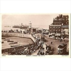 Kent Postcard - Margate Harbour And Jetty - 1920's Real Photo Postcard Listing in the Kent,England,Topographical,Postcards,Collectables Category on eBid United Kingdom