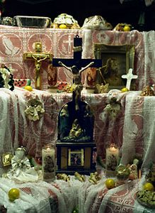 St. Joseph's Day altars began as a custom brought to New Orleans by Sicilian immigrants. The tradition of building the altar to St. Joseph began as far back as the Middle Ages in gratitude to St. Joseph for answering prayers for deliverance from famine. The families of farmers and fisherman built altars in their homes to share their good fortune with others in need. The tradition grew to a more public event on St. Joseph's Feast Day on March 19
