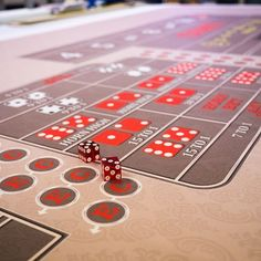 Classic 12' Craps in tan. ���� Wanna see more?  We sell tons of cool casino supplies online.  Link in our bio!