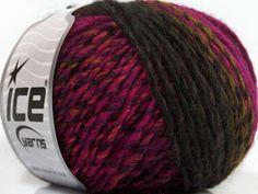 Fiber Content 50% Acrylic 50% Wool Brand ICE Green Fuchsia Black fnt2-40505