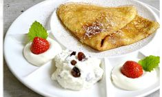Palačinky slané i sladké – MENU domů Czech Recipes, French Toast, Food And Drink, Breakfast, Menu, Czech Food, Morning Coffee, Menu Board Design