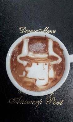 Professor Layton in a Latte?! AWESOME!!!!!!!