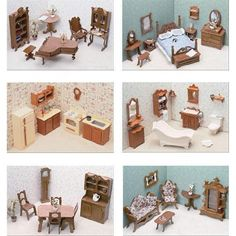 Dollhouse Furniture - Greenleaf Doll Houses 6 Room Furniture Set assembly required * For more information, visit image link.