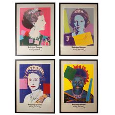"""Warhol Posters:""""Reigning Queens"""" 1980 Gallery Exhibit 