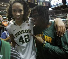 Brittney Griner & Robert Griffin III after Baylor Women's Basketball beat Stanford to go to the National Championship Game.