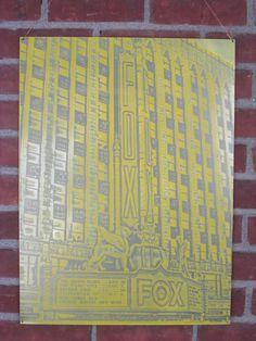 Fox Theater in Detroit on etched metal by Thunder Designs LLC