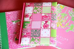 Liily Pulitzer note book, address book and calendar.