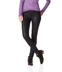 New! Ashley Ultra Skinny Coated Color Jean