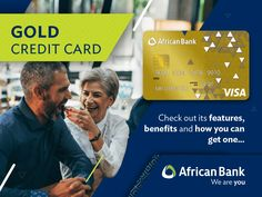 African Bank Gold Credit Card – MoneyToday SA Get One, South Africa, African, Cards, Gold, Maps, Playing Cards, Yellow