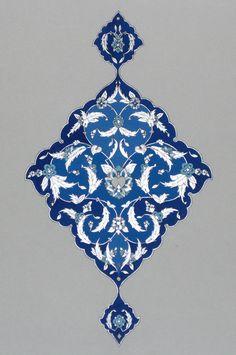Persian Illuminations (Tazhib) artwork by Mojgan Lisar: Lachak Motifs Islamiques, Islamic Motifs, Islamic Art Pattern, Arabic Pattern, Pattern Art, Pattern Design, Persian Pattern, Persian Motifs, Motif Oriental