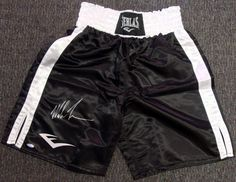 Mike Tyson Autographed Everlast Boxing Trunks TriStar