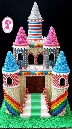 Magical Candy Castle Cake