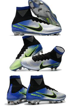 Nike Mercurial Superfly 5 FG ACC Dynamic Fit Boot - Neymar Chrome Blue Nike Soccer Shoes, Nike Cleats, Soccer Boots, Football Shoes, Nike Tennis, Soccer Cleats, Football Soccer, Top Soccer, Soccer Stuff