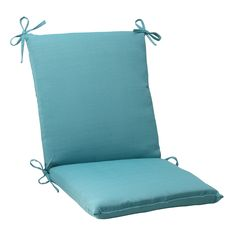 Forsyth Turquoise Squared Chair Cushion