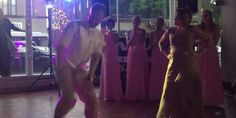 Groom And His Mom Go Head-To-Head In Epic Dance Battle
