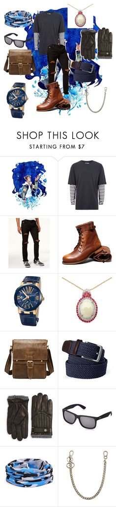 """""""Training Lance"""" by zicknette100 ❤ liked on Polyvore featuring Topman, American Stitch, Ulysse Nardin, Olivia Leone, Lands' End, Polo Ralph Lauren, Ray-Ban, Dsquared2, men's fashion and menswear"""