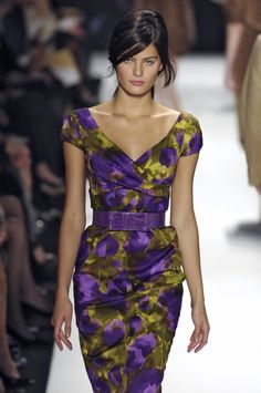 When everyone else wears basic black, I want something like this Michael Kors dress from a few years ago...