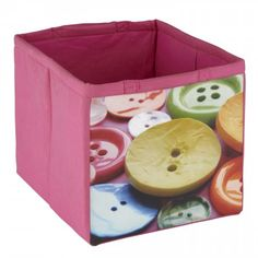 Buttons Fabric Storage Tote