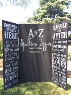 Custom chalkboard // wedding // photo booth // backdrop