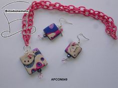 Conjunto Mokume Gane Beig y Rosa de Entodomemeto por DaWanda.com