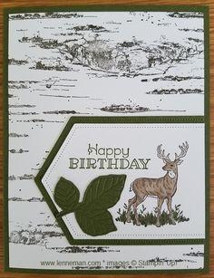 Dena Lenneman, Stampin' Up! Demonstrator: Rustic Retreat Birch Birthday Deer Dena Lenneman, Stampin' Up! Masculine Birthday Cards, Birthday Cards For Men, Masculine Cards, Male Birthday, Holiday Cards, Christmas Cards, Prim Christmas, Black Christmas, Homemade Christmas