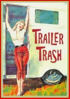 Pinup Girl Waterslide Decal Sticker Rocking Trailer Trash High Heels Hillbilly