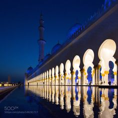 Sheikh Zayed Mosque at Night by sas5 #architecture #building #architexture #city #buildings #skyscraper #urban #design #minimal #cities #town #street #art #arts #architecturelovers #abstract #photooftheday #amazing #picoftheday