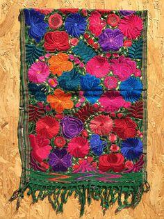 Mexican folk art  table runner rug wall hanging carpet by kuuxi