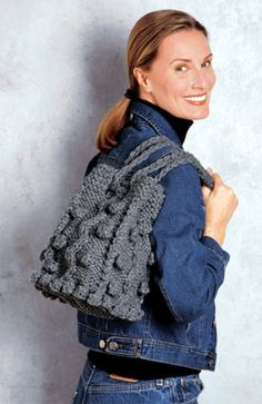 Bobbled Bag in Lion Brand Wool-Ease Thick & Quick - 1199AD. Discover more Patterns by Lion Brand at LoveKnitting. The world's largest range of knitting supplies - we stock patterns, yarn, needles and books from all of your favorite brands.