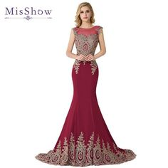 e2755a3a57e Tanpell dark royal blue long evening dress lace beaded o neck short ...